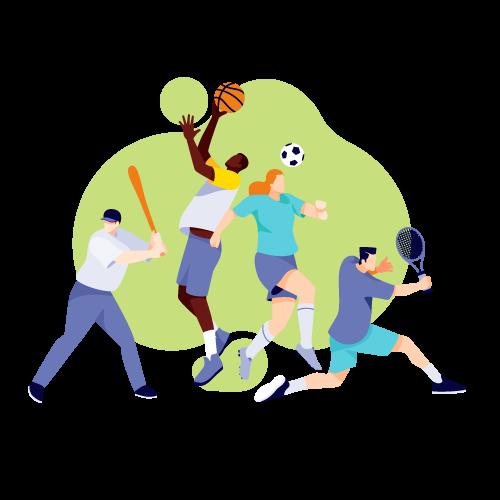 pratiquants de sport
